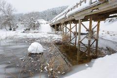 Passerelle au-dessus d'Abant Lake-4 Image libre de droits
