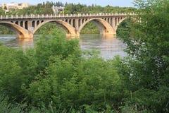 Passerelle au-dessus de fleuve Images libres de droits