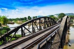 Passerelle au-dessus de fleuve Kwai Photo libre de droits