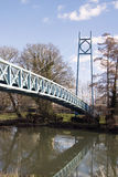 Passerelle au-dessus de la rivière Stour chez Blandford Photographie stock libre de droits
