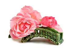 passerelle au-dessus des roses photographie stock