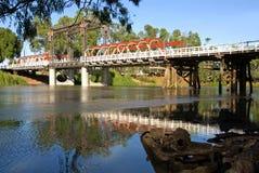 Passerelle au-dessus du fleuve Murray Image stock