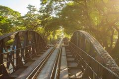 passerelle au-dessus du kwai de fleuve Photos libres de droits