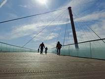 Passerelle au Sun Photographie stock libre de droits