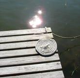 Passerelle avec la corde Image stock