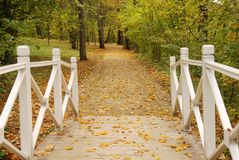 Passerelle blanche Images stock