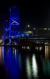 Passerelle bleue, Jacksonville la Floride Photos libres de droits