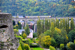 Passerelle Bridge, also known as Luxembourg Viaduct in Luxembourg City Stock Images