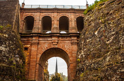 Passerelle bridge or Luxembourg Viaduct. Stock Images