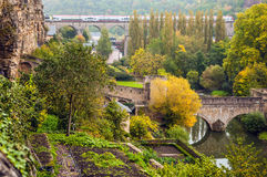 Passerelle bridge or Luxembourg Viaduct. Royalty Free Stock Photo