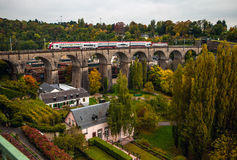 Passerelle bridge or Luxembourg Viaduct Royalty Free Stock Photography