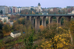 Passerelle bridge in Luxembourg Stock Images