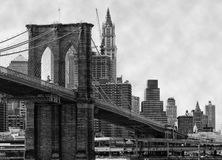 passerelle Brooklyn New York Photos stock