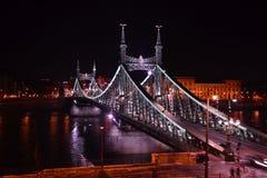 Passerelle Budapest de liberté Photos stock
