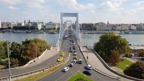 passerelle Budapest elizabeth Images libres de droits