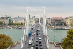 passerelle Budapest elizabeth Photographie stock