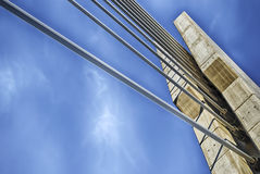 passerelle Câble-restée Image libre de droits