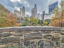 Passerelle Central Park, New York City de Gapstow Photo stock