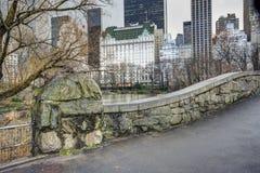 Passerelle Central Park, New York City de Gapstow Image libre de droits