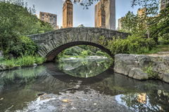 Passerelle Central Park, New York City de Gapstow Photos stock