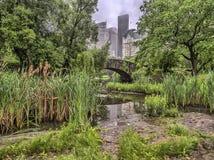 Passerelle Central Park, New York City de Gapstow Photos stock