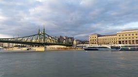 Passerelle à chaînes Budapest Photographie stock