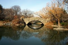 Passerelle chez Central Park Images stock