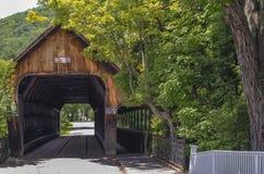 Passerelle couverte au Vermontn Images libres de droits