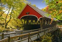 Passerelle couverte de la Nouvelle Angleterre Photo libre de droits