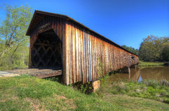 Passerelle couverte de moulin de Watson Photographie stock