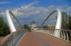 Passerelle d'éphémère, Szolnok, Hongrie Images libres de droits