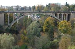 Passerelle d'Adolphe au Luxembourg Photos stock
