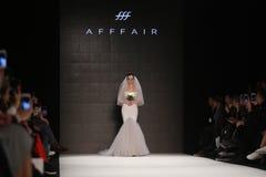 Passerelle d'Afffair en Mercedes-Benz Fashion Week Istanbul Photographie stock