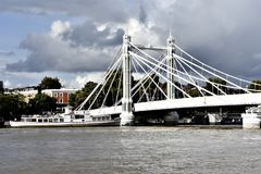 Passerelle d'Albert, Londres Photographie stock