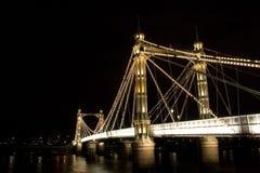 Passerelle d'Albert, Londres Images libres de droits