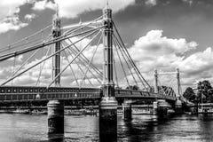 Passerelle d'Albert, Londres Photographie stock libre de droits