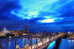 Passerelle d'Alexandra à Ottawa, Canada Images libres de droits