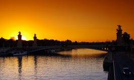Passerelle d'Alexandre 3 à Paris Photographie stock libre de droits
