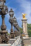 Passerelle d'Alexandre III à Paris Images stock