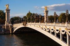 Passerelle d'Alexandre III Photo stock