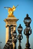 Passerelle d'Alexandre III Photos libres de droits
