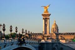 Passerelle d'Alexandre III Image libre de droits