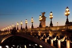 Passerelle d'Alexandre III, Paris Image libre de droits