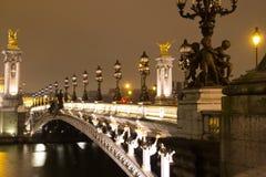Passerelle d'Alexandre III, Paris Photos libres de droits