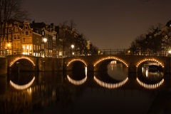 Passerelle d'Amsterdam Image libre de droits