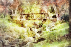 Passerelle d'automne illustration stock
