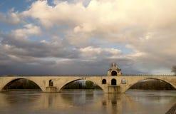 Passerelle d'Avignon Photographie stock libre de droits