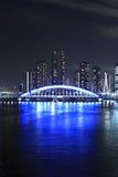 Passerelle d'Eidai et fleuve de Sumida à Tokyo, Japon Image libre de droits