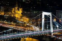Passerelle d'Elisabeth à Budapest Image libre de droits