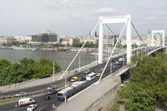 Passerelle d'Elizabeth, Budapest Image libre de droits